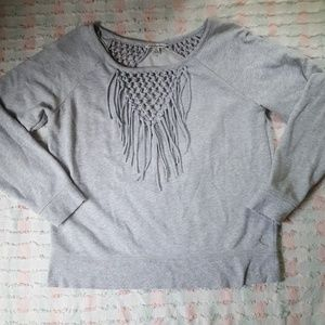 American Eagle Outfitters Fringe Sweatshirt H175
